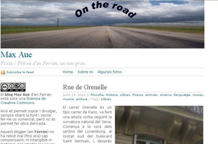 El blog tal i com el veiem.